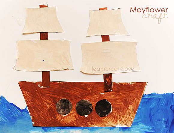 Printable Mayflower Craft from LearnCreateLove.com