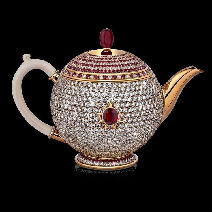 Officially certified by the Guinness Book of Records, the $3 million diamond, gold and ruby Egoist is the most valuable teapot in the world. Time for tea anyone? Discover more: http://www.thejewelleryeditor.com/jewellery/stir-crazy-most-expensive-teapot-world/ #expensive