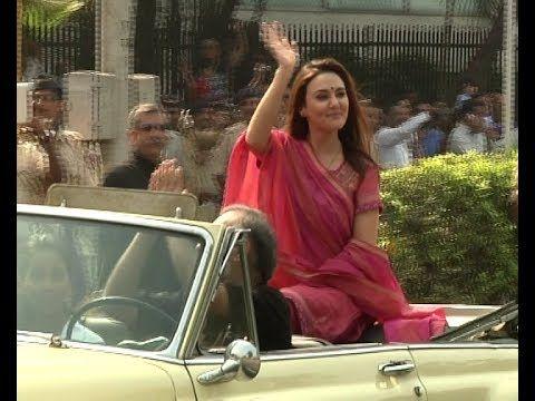 Priety Zinta @ 65th REPUBLIC DAY PARADE 2014 MUMBAI.
