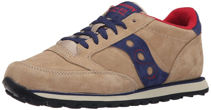 Saucony Originals Men's Jazz Low Pro Retro Running Classic Sneaker, Tan/Navy, 10 D US