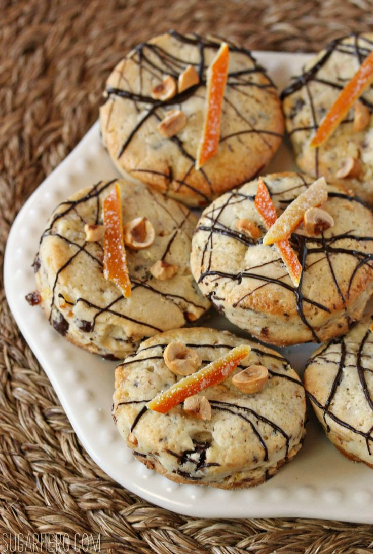 Hazelnut Orange Chocolate Scones - soft, sweet scones perfect for ...