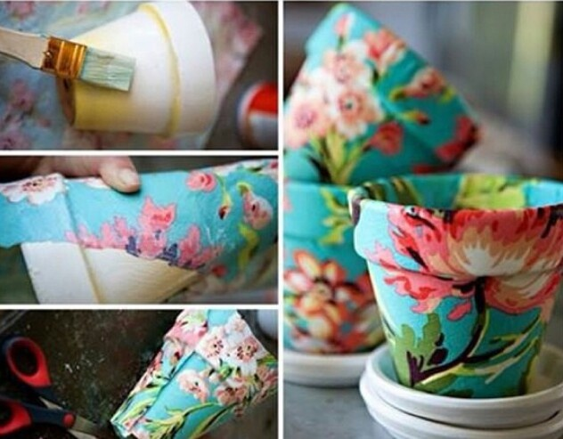 Diy Paper Mache Flower Pot Do This With Christmas Wrapping Paper