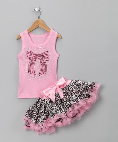 Take a look at this Pink Bow Tank & Pettiskirt - Infant, Toddler & Girls by So Girly & Twirly on #zulily today!
