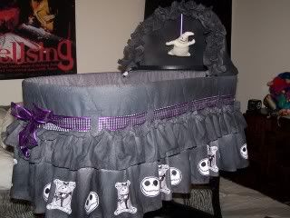 My son has told me now twice that I am supposed to marry a certain someone and have another baby.... If that happens, I want this. :-)  nightmare before christmas cradle - BabyGaga