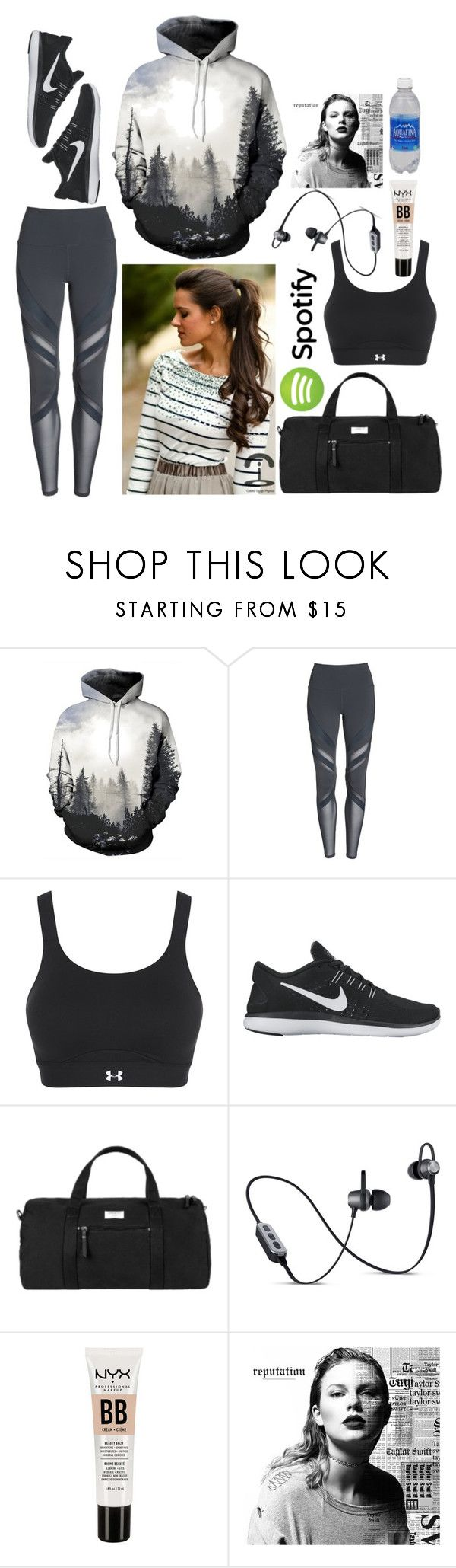 """""""Stephanie: August 28, 2017"""" by disneyfreaks39 ❤ liked on Polyvore featuring Alo, Under Armour, NIKE, Parasol and Merkury"""