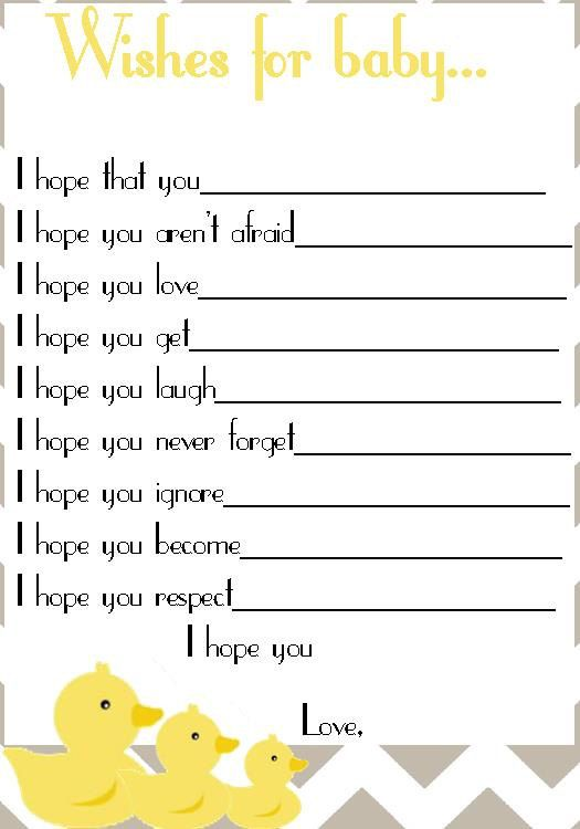 Good idea to have everyone fill out at Liams shower and save for when he's older for him to read:)