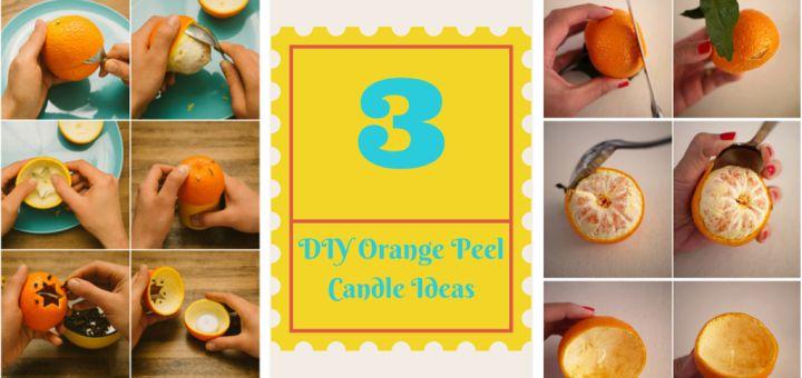how to make orange peel candle DIY