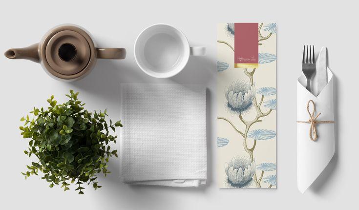 Menu Design – Afternoon Tea at Ferrycarrig. Graphic Design. Print Design. Restaurant Menu. Hotel.