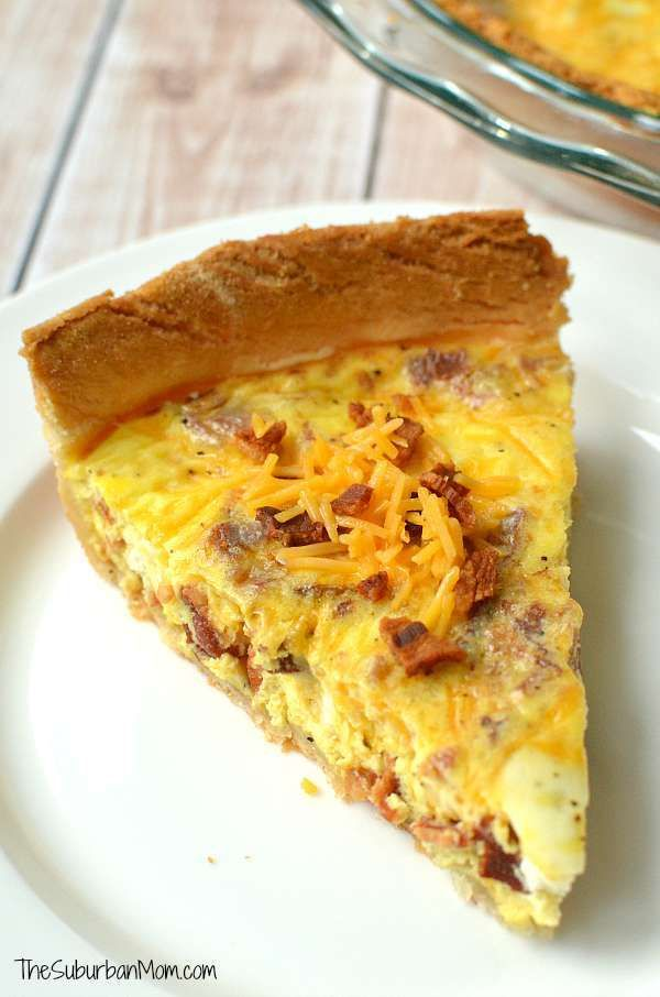 Cheddar Bacon Quiche Recipe Bacon Quiche Recipe Healthy Sweet Snacks Quiche Recipes