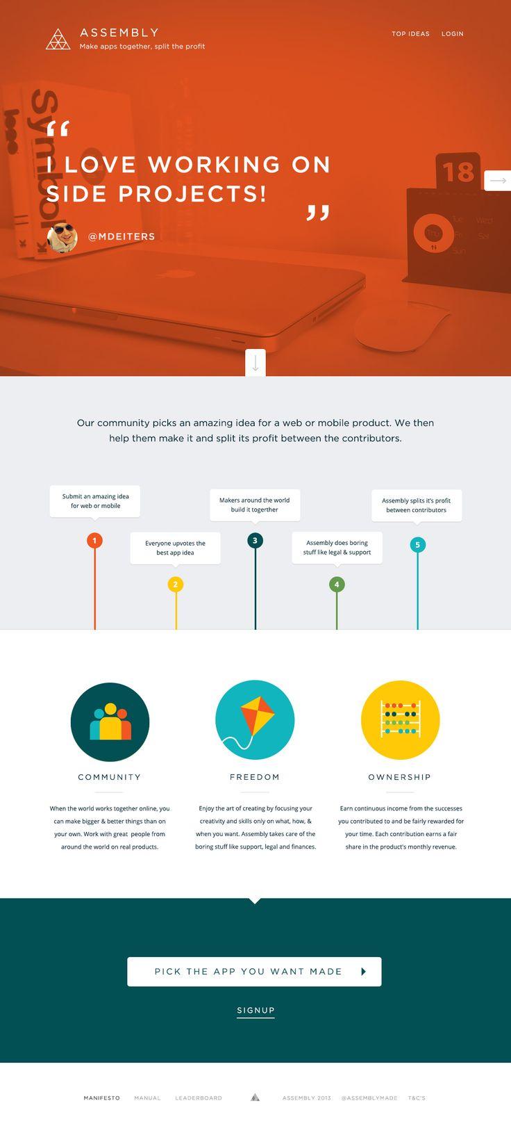 Colourful simple web design