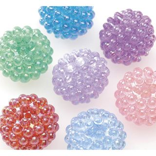 Beads-Berry-Transparent Multi AB-15mm