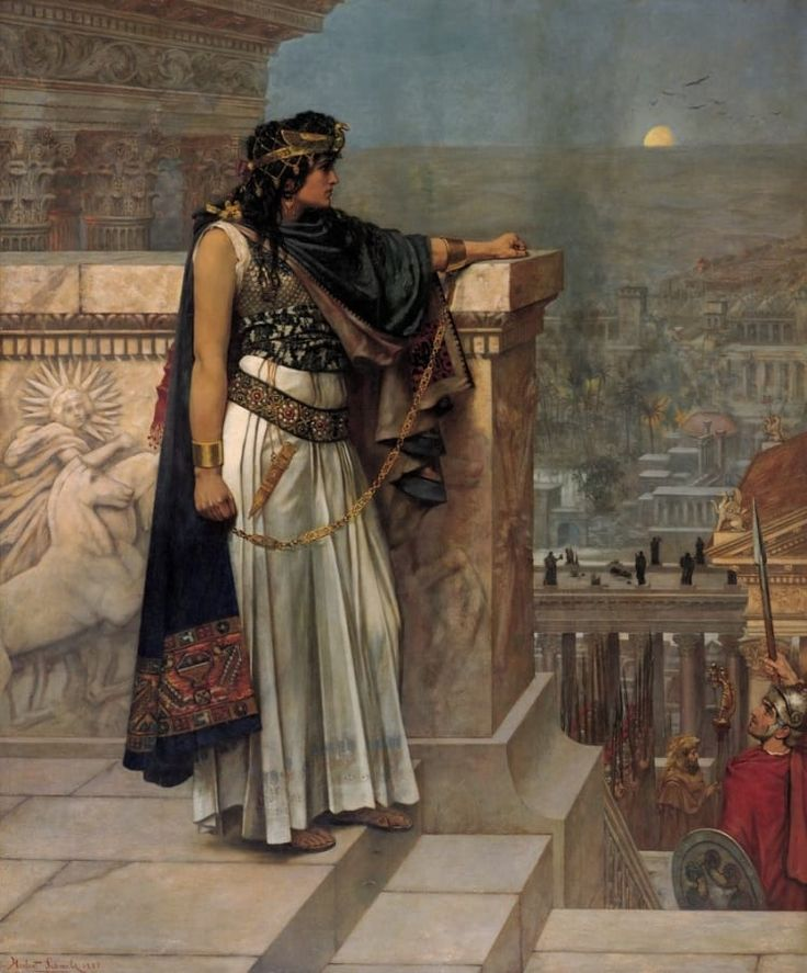 'Queen Zenobia – HOW DO PEOPLE NOT KNOW ABOUT HER? – was the warrior queen of what is now Syria, a feminist, and a diplomat. She spoke at least four languages, wrote a book chronicling a thousand years of Asian history, and spear-hunted bears and lions from horseback. She and her husband, in full battle armor, led armies across Persia, defeated an invasion of Goths (not the Hot Topic kind), and she was such a badass that the Pope praised her bravery. When her husband was murdered, she…