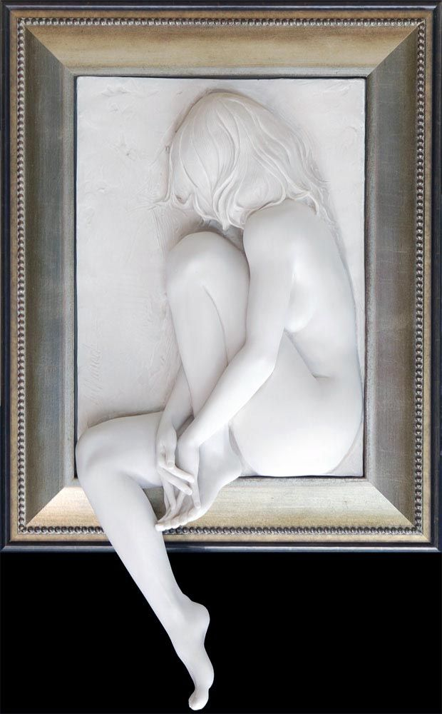 Longing - Bas Relief Sculpture by Bill Mack
