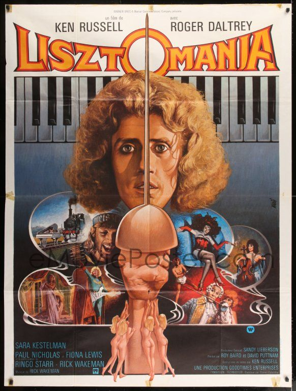eMoviePoster.com Image For: 7g868 LISZTOMANIA French 1p 1975 Ken Russell directed, Roger Daltrey, different art by Jean Mascii!