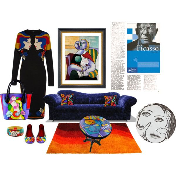 Picasso Fashion & Home Design by alvufashionstyle on Polyvore featuring arte