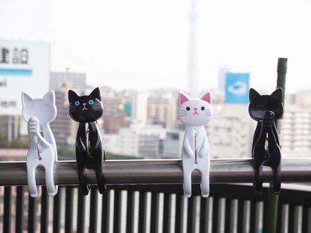 猫の洗濯バサミ