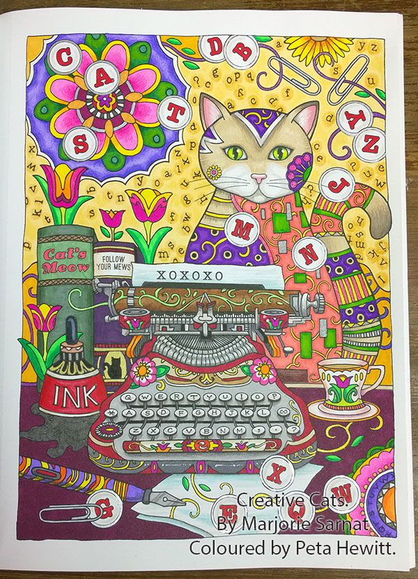 Creative Cats… Coloured Pictures and a Video review! – La Artistino – Peta Hewitt