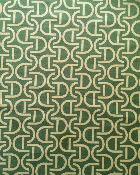 Retro curve fabric in brilliant green and yellow...very 70s.
