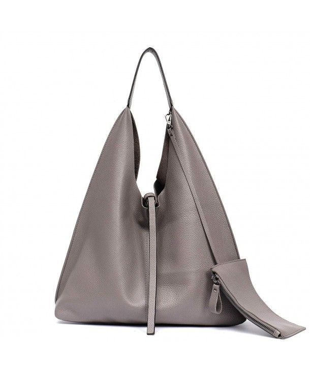 6d0cfeb331 Women's Bags, Shoulder Bags,Women Genuine Leather Shoulder Bag Slouchy Hobo  Casual Soft Tote Ladies Vintage Bag - Grey - CB18EZNSZXI #BAGS #Handbags # women ...