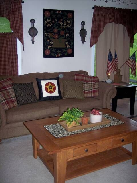 A Primitive Place ~ Primitive & Colonial Inpired Living RoomsWall Hanging, Living Room, Livingroom Ideas