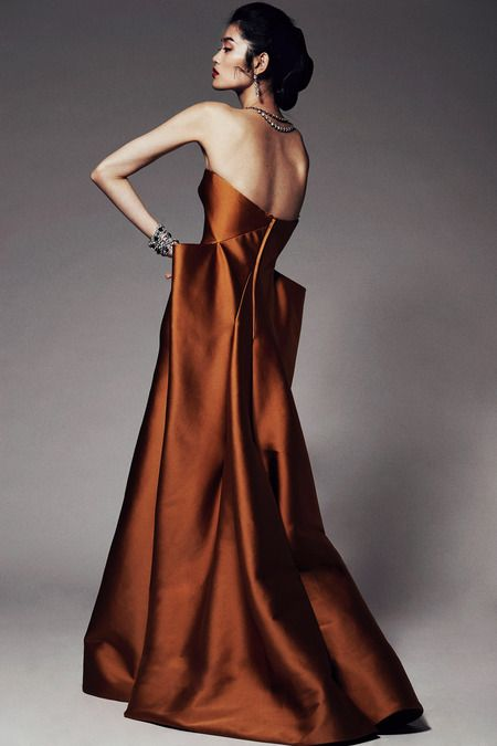 Zac Posen | Pre-Fall 2014 Collection | Style.com #brown #chocolatebrown