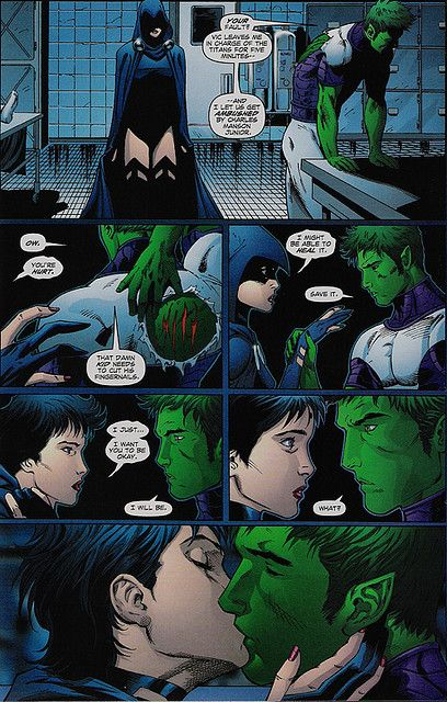 robin and starfire sleeping together relationship