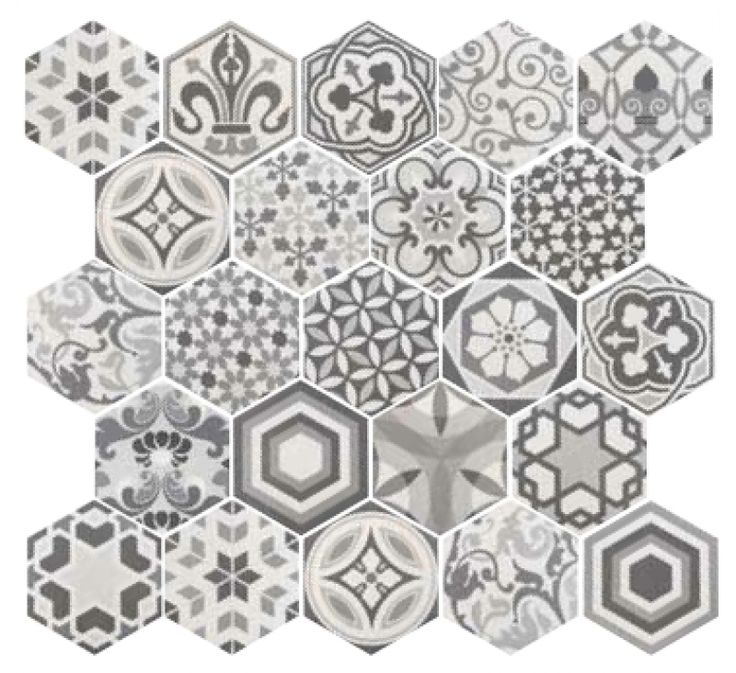 If your looking to create a statement floor then these Hexagon tiles really could be the answer. Perfect for a vintage bathroom, kitchen or hallway, use the patchwork tile on its own or with any of the 3 coloured base tiles