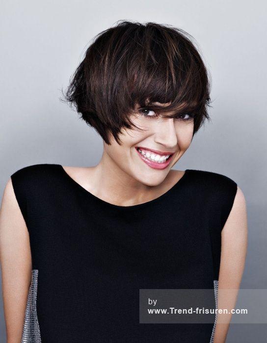 JEAN LOUIS DAVID Kurze Braun weiblich Gerade Orgien Farbige Multi-tonalen Französisch Frauen Haarschnitt Frisuren hairstyles