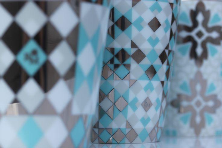 Les nouveaux motifs de Carreaux de Ciment de #RoseetMarius #bougies précieuses #turquoise #fashion #PE16