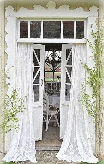 What a charming entrance to the garden room.