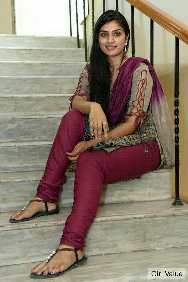 Hot Desi Indian Girl In Salwar Kameez Churidar  Only -7893
