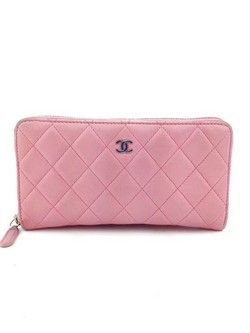 #chanel #pink #quilted #wallet #leather #purse #bagoftheday #bagporn #fashion