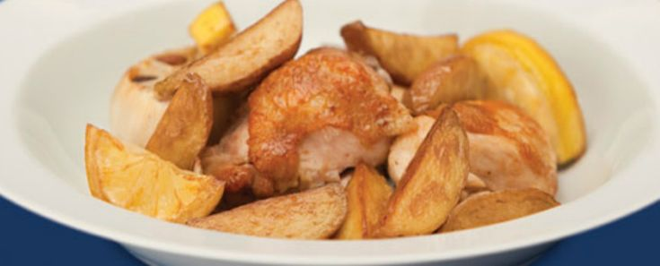 Roast Chicken with Rooster Potatoes and Lemon