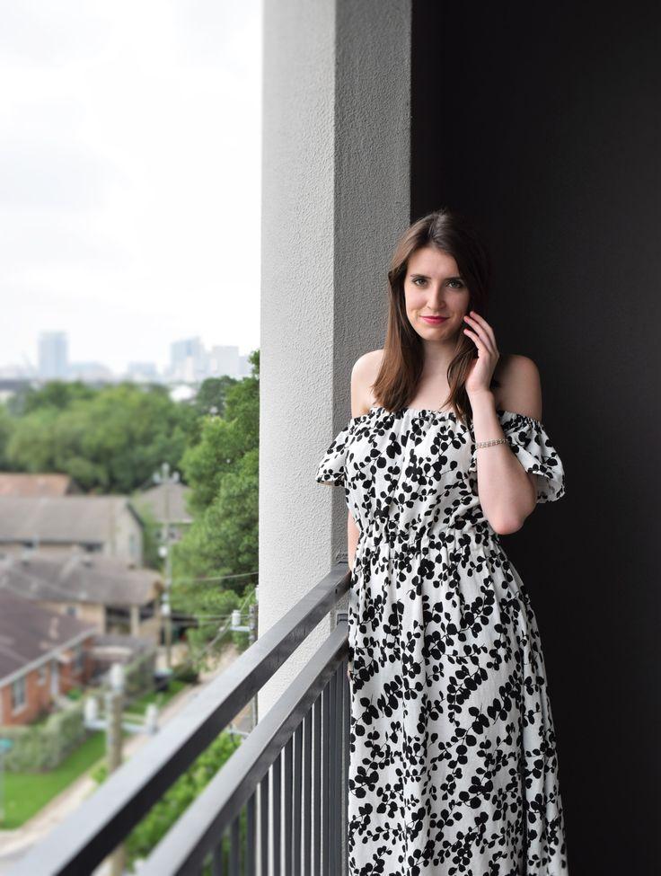 Off the Shoulder Maxi Dress Sewing Pattern DIY
