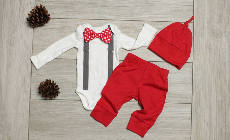 Baby Boy Hospital Outfit. Newborn boy coming home outfit. Take home set for infant boys. Newborn clothes for boy. Red and gray set pants. by CuddleSleepDream on Etsy https://www.etsy.com/listing/281085302/baby-boy-hospital-outfit-newborn-boy