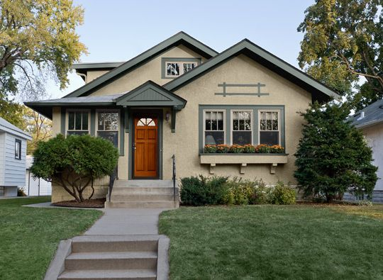 here an eclectic palette brings out the cottage charm of this craftsman style bungalow light cottage exterior colorsexterior paint