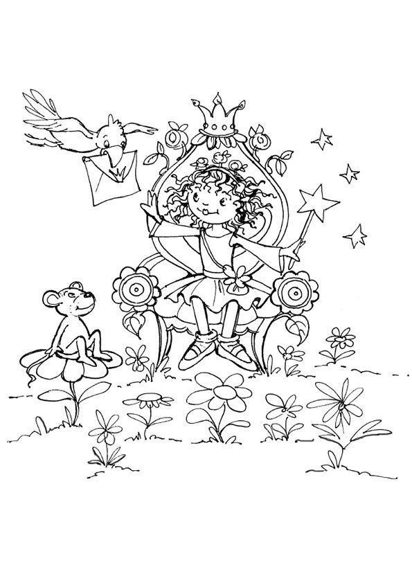 ausmalbilder-lillifee-10 (595×842) | lillifee | pinterest