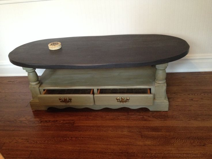 Delightful Two Toned Oval Coffee Table. Rustic And Chic. Furniture DecorArtsy Fartsy