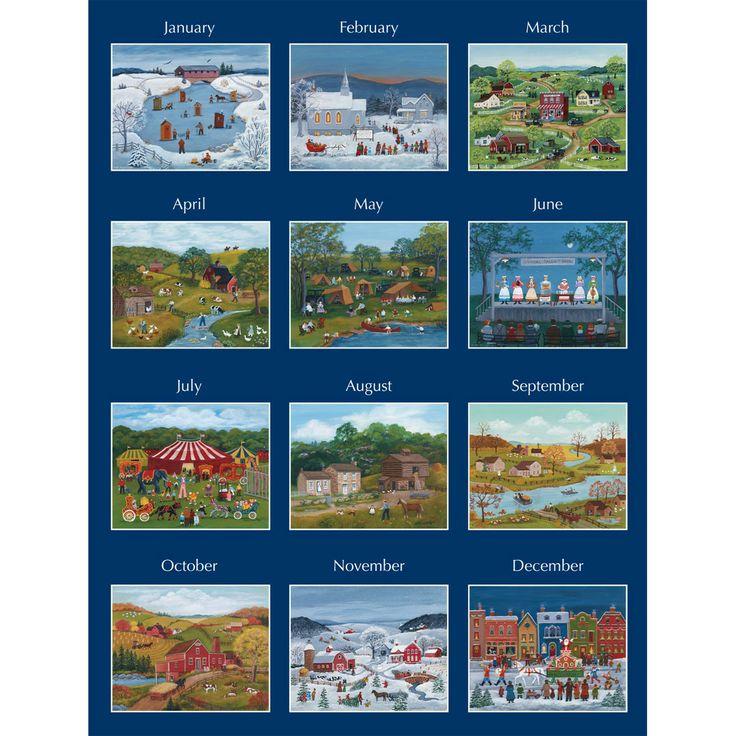 Lang Folk Art Calendar : Lang folk art wall calendar