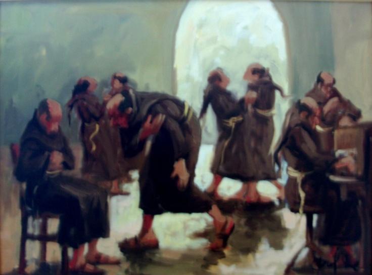 """""""Frate lavoratore"""", 60x45, Olio su tela"""
