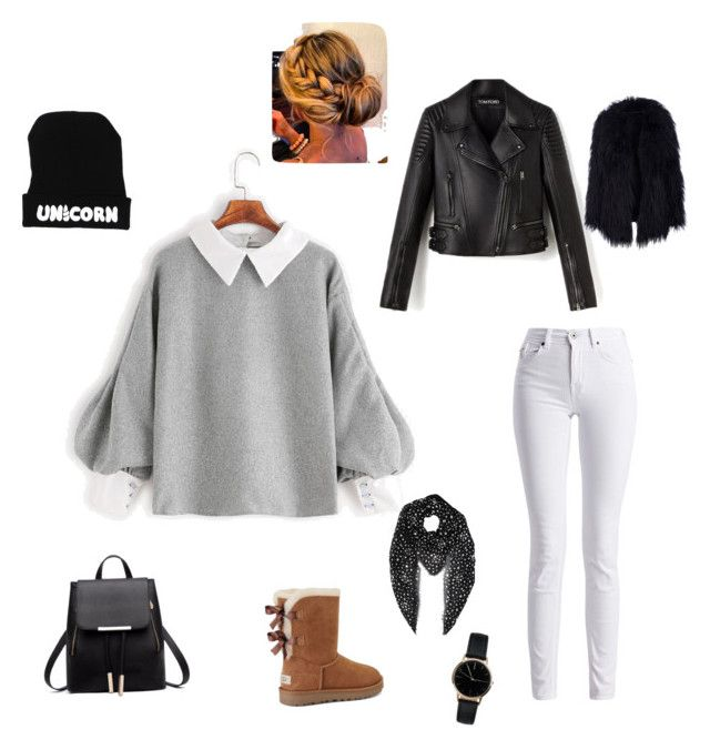 """Untitled #197"" by rekac on Polyvore featuring Barbour International, UGG, Yves Saint Laurent and Freedom To Exist"