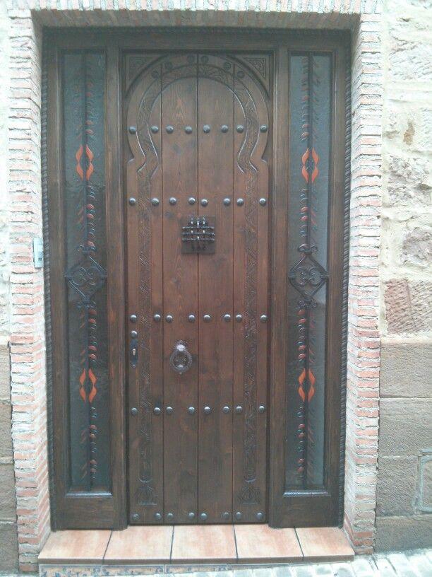 Puerta arabe en linares puertas de madera pinterest for Puertas de 0 60