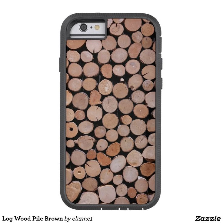 Log Wood Pile Brown Tough Xtreme iPhone 6 Case A rugged outdoors design that is available for most popular phones. Makes a nice gift for a man!