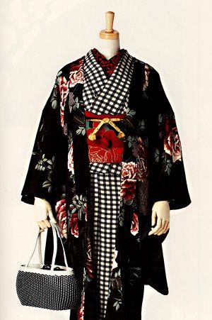 "from book, ""Of Modern Kimono Chiyo Beans"", 2003 - the changing look of kimono fashion."