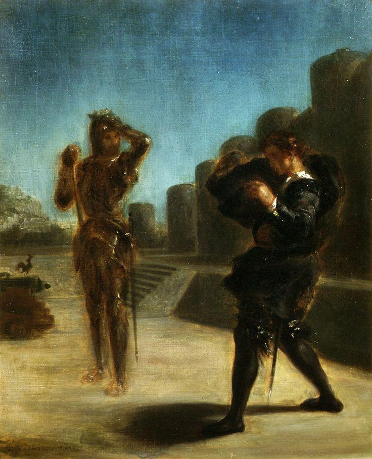 Ghost of Hamlet's father by Eugène Delacroix, 1825 (PD-art/old), Muzeum Uniwersytetu Jagiellońskiego (MUJ)
