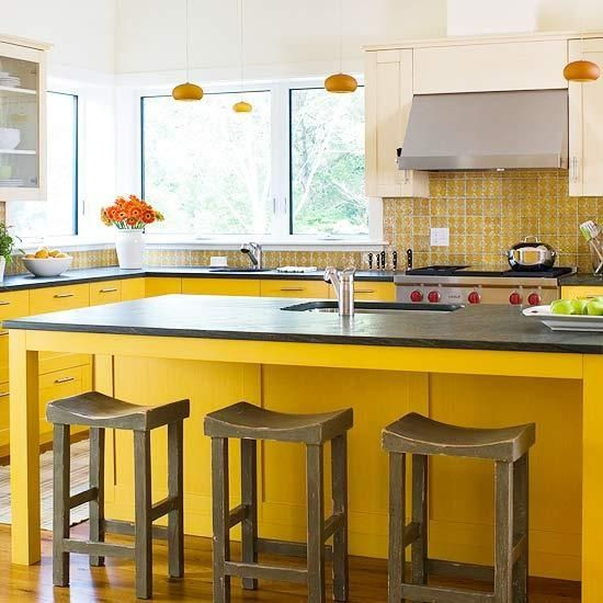 Bright And Sunny Yellow Kitchen Designs My Future House Pinterest