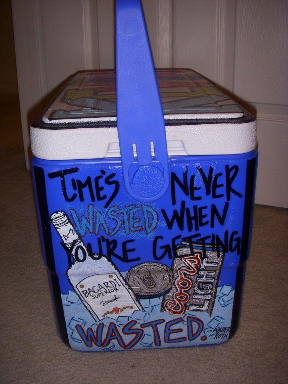 Diy Painted Cooler : Best coolers ideas on pinterest frat cooler