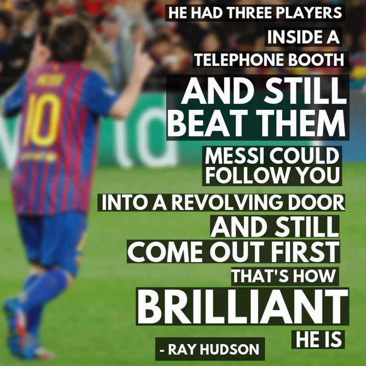 - @RayHudson on his favorite Messi goal of all-time (2013 against Bilbao).