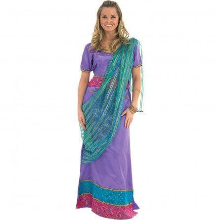 Womens Purple Bollywood Costume