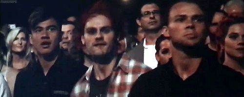 5SOS shown during One Direction's performance during the 2015 AMAs
